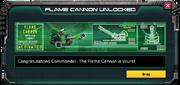 FlameCannon-UnlockMessage