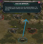Platoon Move Error