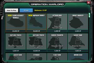 Floodgate 2 war commander prizes for kids
