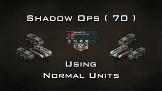 War Commander Shadow Ops ( 70 ) Using Normal Units 4 Jan 2018