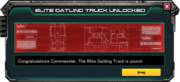 GatlingTruck-Elite-Unlocked-Message