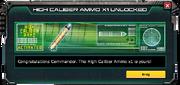 High-CaliberAmmo-UnlockMessage