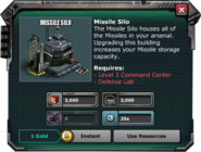 MissileSilo-Requirments