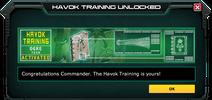 HavokTraining-UnlockMessage