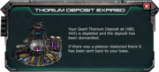 Thorium Depot Expired