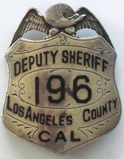LAPD badge adams