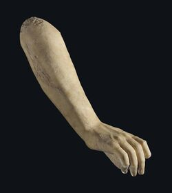 Classical marble arm