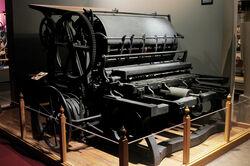 Kansas museum white printing press