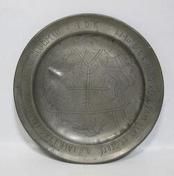 Plate german-pewter-armorial