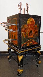 Howard Thurston's sword cabinet