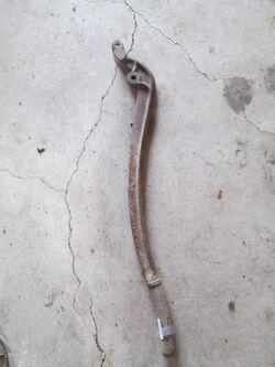 Well pump handle