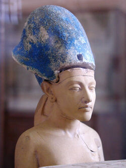 Akhenaten with blue crown