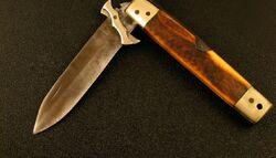 Unfolded pocket knife
