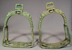 Iron stirrups