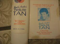 Frankie Avalon's Suntan Lotion