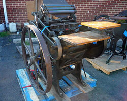 The Types & Printing Press from the Type Riot of Toronto