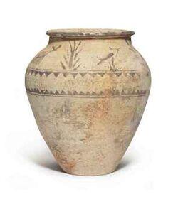 An ancient near eastern pottery jar circa 1st millennium bc d5478186h