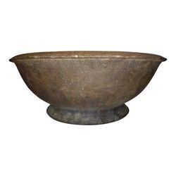 Clay husking bowl