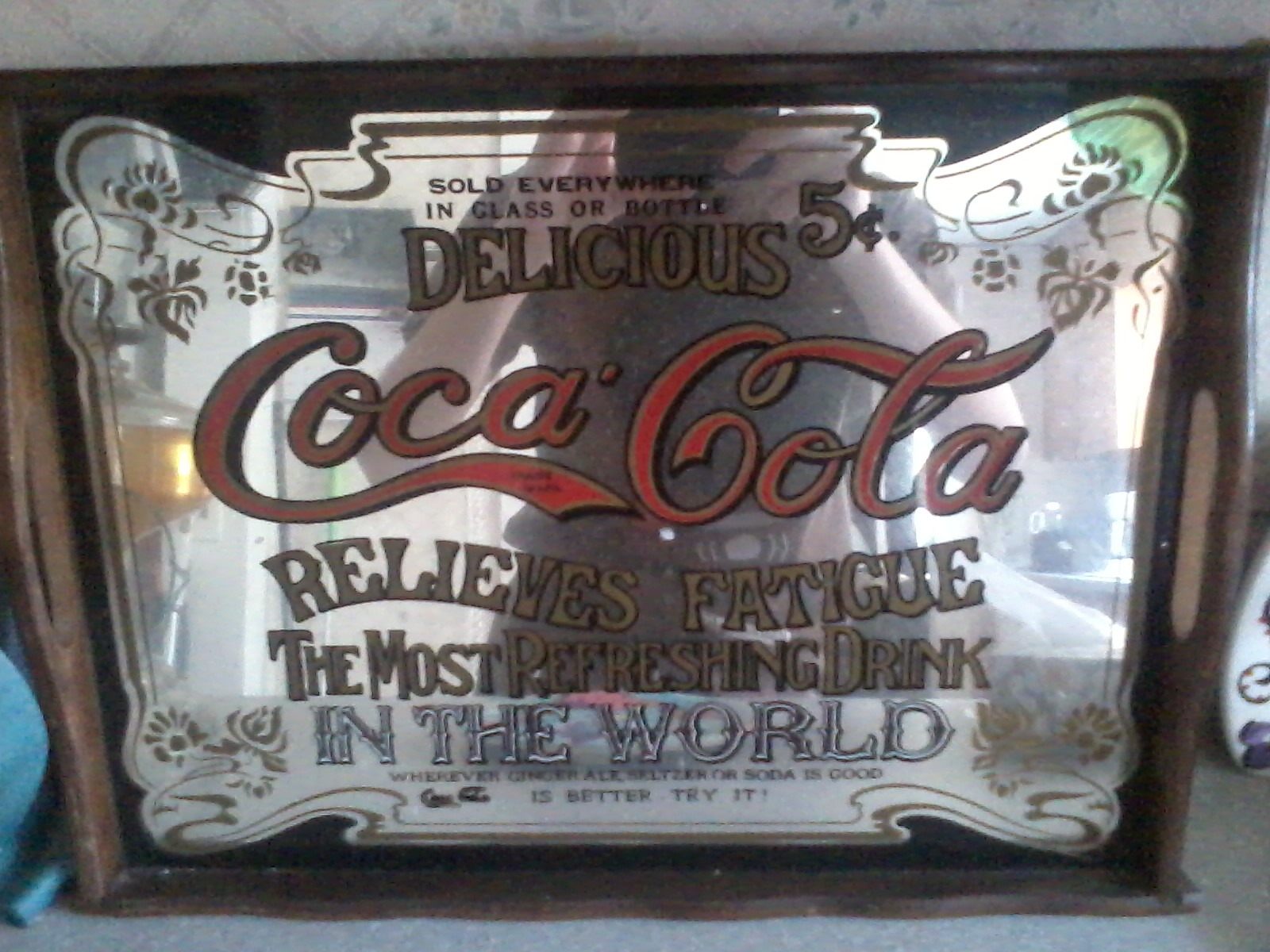 Vintage Coca Cola Promotional Mirror Tray Warehouse 13