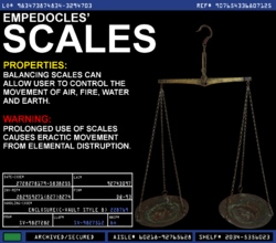 Empedocles' Scales