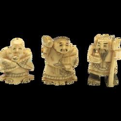 Ox Bone Chinese Immortal Figures