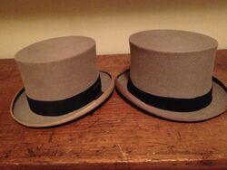 John D. Rockefeller, Sr. and Jr.'s Top Hats