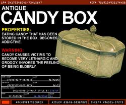 Antique Candy Box