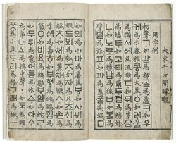 Manuscript korean-chinese