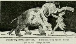 L'éléphant de la Bastille, mangé par les rats, change de place