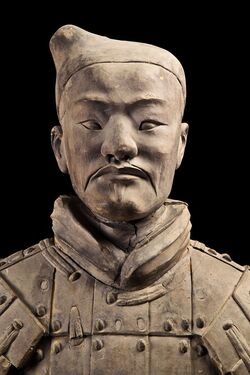 Head from Emperor Qin's Terracotta Soldier