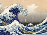 "Katsushika Hokusai's Woodcut of ""The Great Wave off Kanagawa"""