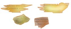 Paper pieces