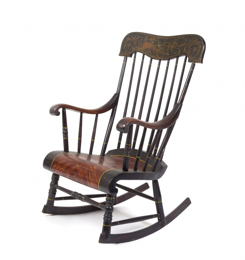 Charmant Antique Wooden Rocking Chairs
