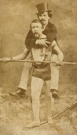 Blondn carrying manager Harry Colcord