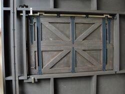 Trap door display