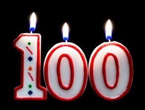 Candles From Jeanne Calments 100th Birthday Cake