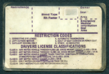 Driver license Illinois back late 70s
