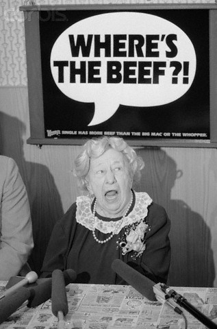 Image result for Where is the beef?