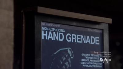 Non-Exploding Hand Grenade Display Card
