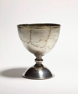 Chalice anglo saxon 9ce gilded