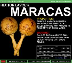 Héctor Lavoe's Maracas