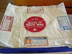 Wrappers from whopper