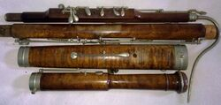 Bassoon disassembled