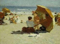 Edward Henry Potthast's painting Coney Island