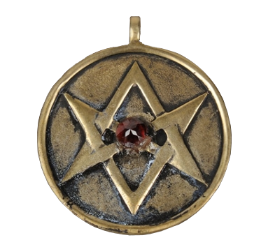Aleister Crowleys Jewel Studded Unicursal Hexagram Amulet