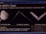 Hiram Abiff's Tools