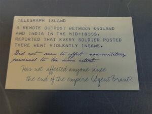 Telegraph Card