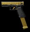 황금 Glock 18C Render