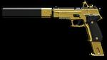 황금 SIG Sauer P226 C Render