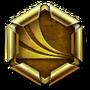 Challenge badge gold 04